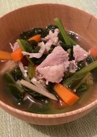 生姜と塩麹の具沢山スープ