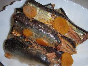 A圧力鍋でサンマの生姜醤油煮