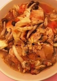 美味しすぎた…秋鮭のアクアパッツァ