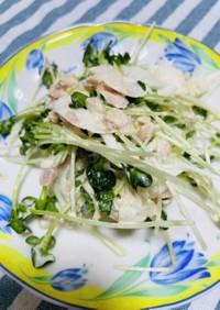 かいわれとシーチキンの超簡単サラダ