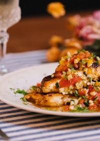白身魚のソテー サルサソース