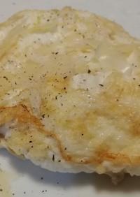 卵1つで白いオムレツと黄身の醤油漬け