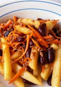 赤インゲン豆の野菜ケチャップ炒め