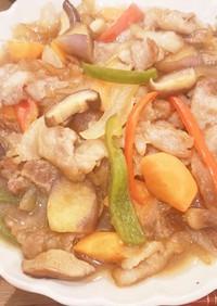 豚バラとたっぷりお野菜の甘酢炒め