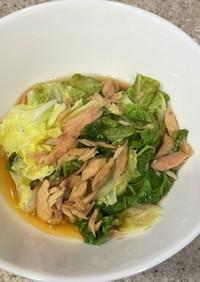 ポリ袋で簡単ツナと白菜のスープ