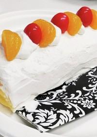 クレープ生地ロールケーキ風