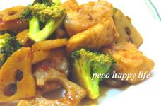 ☆鶏肉と蓮根のピリ辛香ばし炒め☆