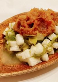 【簡単副菜】めかぶと山芋の梅ソースのせ
