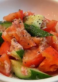 ☆簡単!トマトとキュウリのサラダ