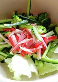 レタスとカニカマの簡単サラダ