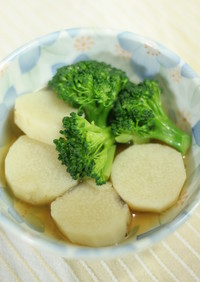 長芋とブロッコリーのサッと煮
