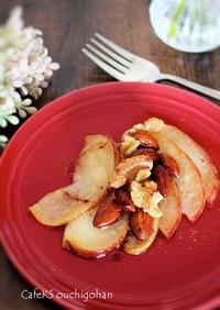 素材一品だけ!りんごのココナツオイル焼き