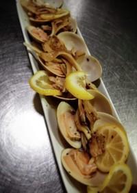 蛤とレモンのワイン蒸し❨(@≧↺≦@)❩