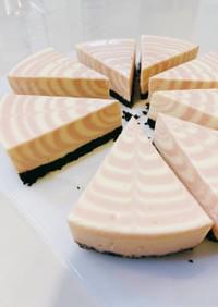 イチゴマーブル☆レアチーズケーキ
