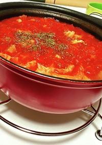 トマト缶ミルフィーユ鍋