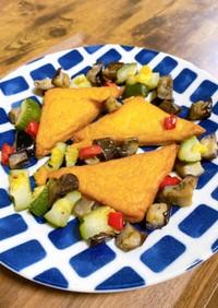 焼くだけ簡単!夏野菜とお魚厚揚げのグリル