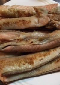 秋鮭ハラミの昆布茶焼き