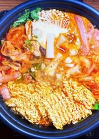 冬の韓国鍋!代用してプデチゲ作り♪