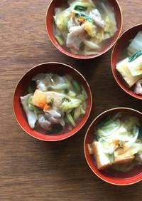 豚バラと白菜の九条ネギあんかけ 柚子風味