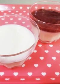 ゼラチンで簡単♪ミルクプリン