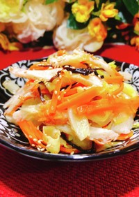 おつまみ副菜~キャベツ塩昆布柚子胡椒和え