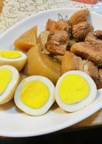 簡単!圧力鍋で豚の角煮と大根と煮玉子