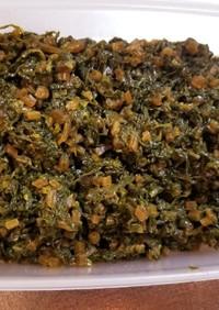 栄養満点♪佃煮風大根の葉の炒め煮