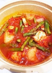チキンのトマト煮込み MEYER:圧力鍋