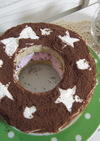 クリスマス☆リース型アイスケーキ