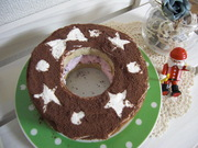 クリスマス☆リース型アイスケーキの写真