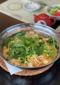 簡単☆鳥のささみと豆腐の雑炊