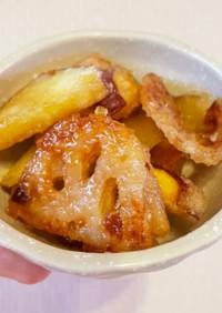 コスパも味も最高!薩摩芋と蓮根の甘辛炒め