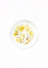 ポン酢で簡単、カブの和風カルパッチョ。