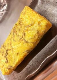 塩昆布とネギの卵焼き