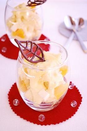 オレンジクリームのグラスケーキ