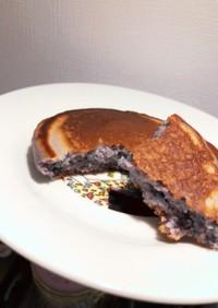 簡単ハロウィン!紫芋ホットケーキ!