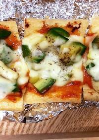 簡単手作りソースの油揚げピザ☆
