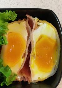 お弁当のおかず ハム卵 レンジでチン