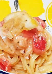 サーモンとミニトマトの一口サラダパスタ