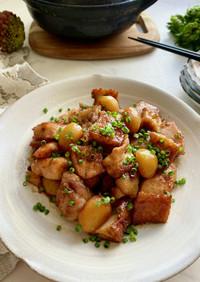 鶏肉と栗と厚揚げのほっこり煮