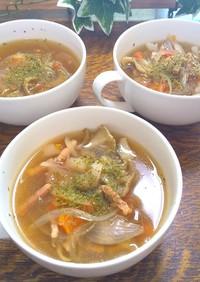 超簡単!舞茸とトマトとベーコンのスープ