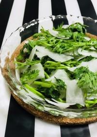 ピーラー大根と生春菊のサラダ 簡単一品