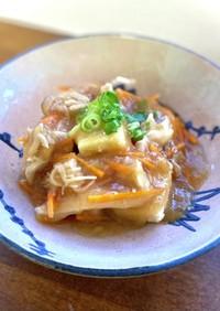 高野豆腐の塩糀おろしあんかけ