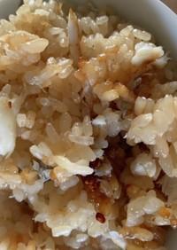 餅米半分、モチモチ鯛めし