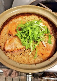 サーモンと水菜の炊き込みご飯