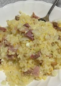 バジルオイルでパラパラ焼豚炒飯