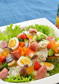 シーズニングオイルが香るサラダ寿司♪