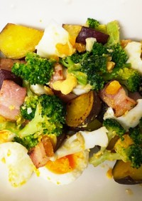 さつまいもとブロッコリーの温サラダ