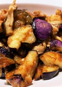 茄子と舞茸の南蛮炒め