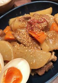 ホットクックで!大根豚肉の甘酢醤油うま煮